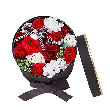 Rosas en una Caja de Regalo Flor de jabón hecha a mano Caja ...