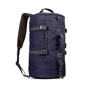 3ab1822983e7 HAOHAOWU Canvas Backpack Multi-Function Men's Travel Bag Sports ...