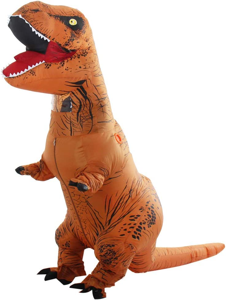 Yonji - Disfraz Hinchable de Dinosaurio T-Rex para Adultos: Amazon ...