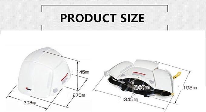XIN-Dynasty plegable Casco de seguridad blanco con ventilación ...