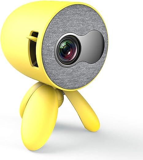 Opinión sobre WTTHCC Mini Proyector Portátil De Bolsillo Lindo Proyector con 1400 Lúmenes Y Reproductor De Video Full HD 1080P Regalo para Niños Compatible con HDMI USB 3D LED Beamer,Amarillo