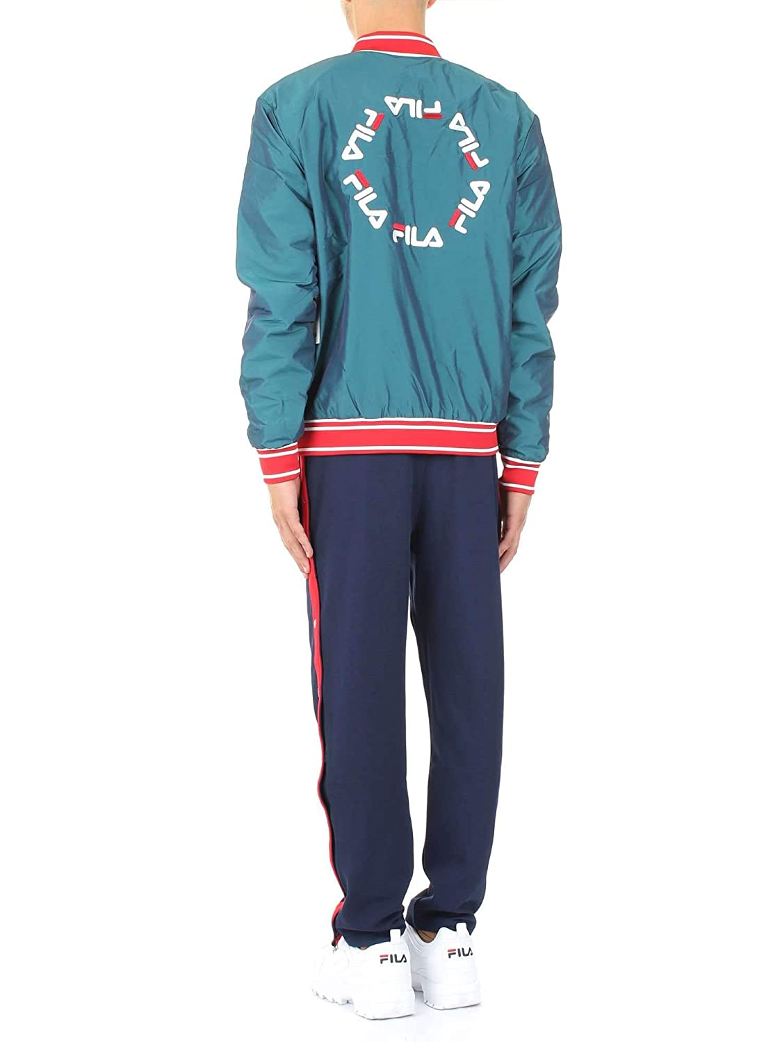 Fila Vintage Friars Tearaway High Waisted Track Pant   Peacoat/Red ...