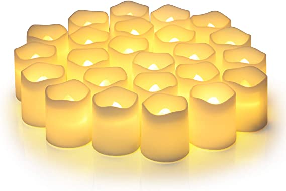 Amazon.com: Flameless Votive Candles,Flameless Flickering Electric Fake Candle,Pack of 24,Battery Operated LED Tea Lights in Warm White for Wedding,Table,Festival Celebration,Halloween,Christmas Decorations: Home Improvement