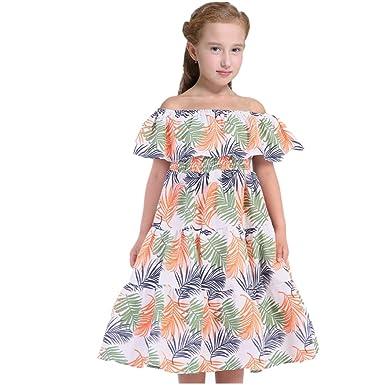 Amazon Com Tsyllyp Girls Summer Dress Bohemian Long Dresses One