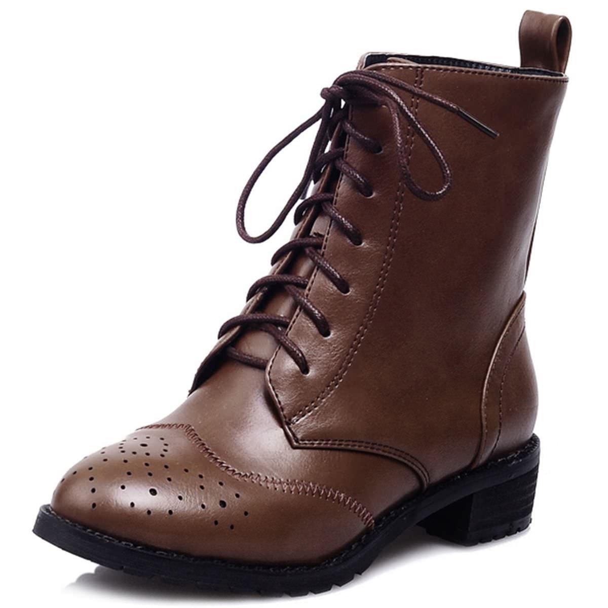 KingRover Botas militares mujer EU 41 Zapatos de moda en línea Obtenga el mejor descuento de venta caliente-Descuento más grande