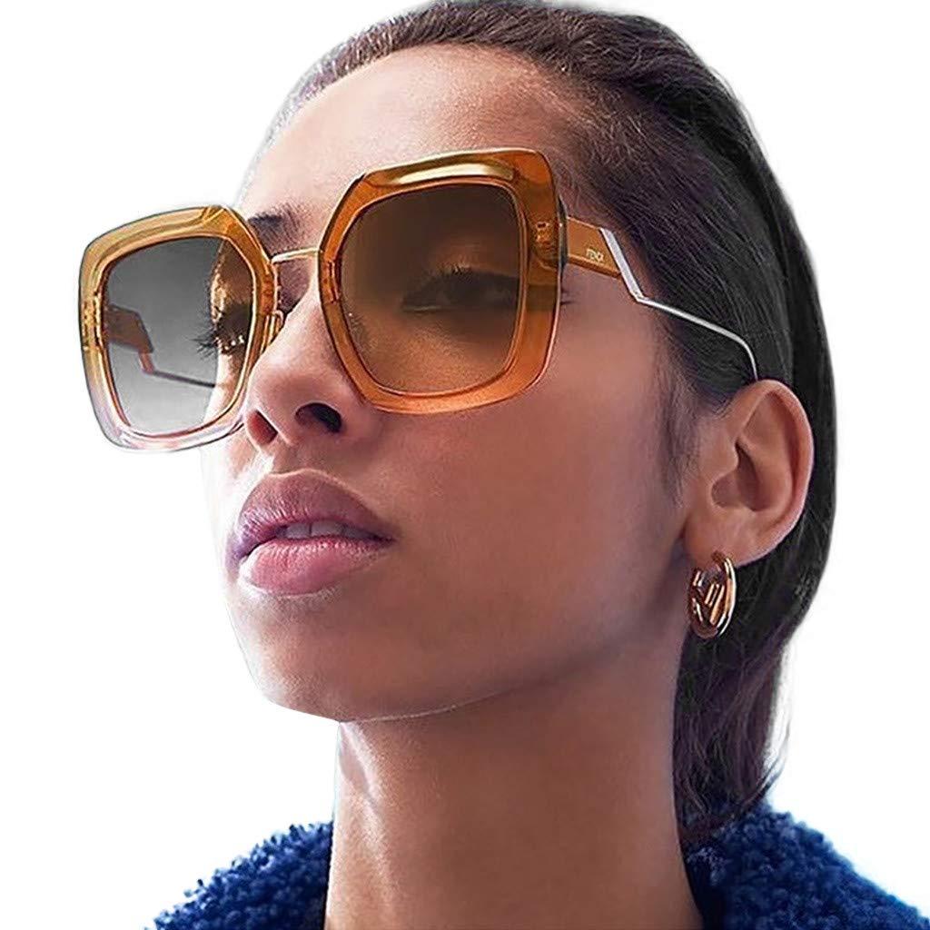 zongrong Women Men Vintage Eye Sunglasses Retro Eyewear Fashion Radiation Protection