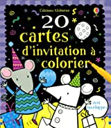 20 CARTES D'INVITATION A COLOR