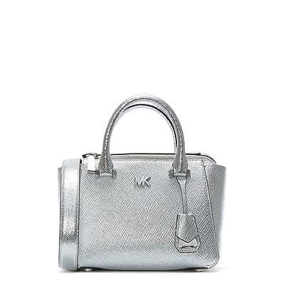 d665cfa083df Amazon.com  Michael Michael Kors Mini Messenger - Silver  Shoes