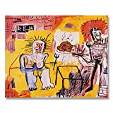 Jean-Michel Basquiat Original Graffiti Art Rice And Chicken 1981 Canvas Paintings Hand Painted Reproduction Unframed Tablet - 48X38 inch (122X97 cm) for Living Room Wall Decor To DIY Frame
