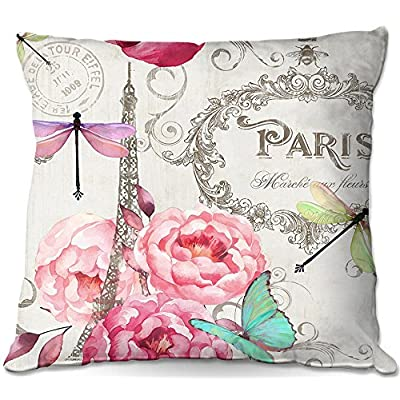Outdoor Patio Couch Throw Pillows from DiaNoche Designs by Tina Lavoie - Paris Flower Market Pattern : Garden & Outdoor
