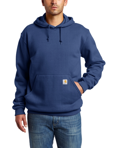 2009 Hooded Sweatshirt - Carhartt Men's Big & Tall Midweight  Hooded Sweatshirt,Navy  (Closeout),2X-Large/Tall