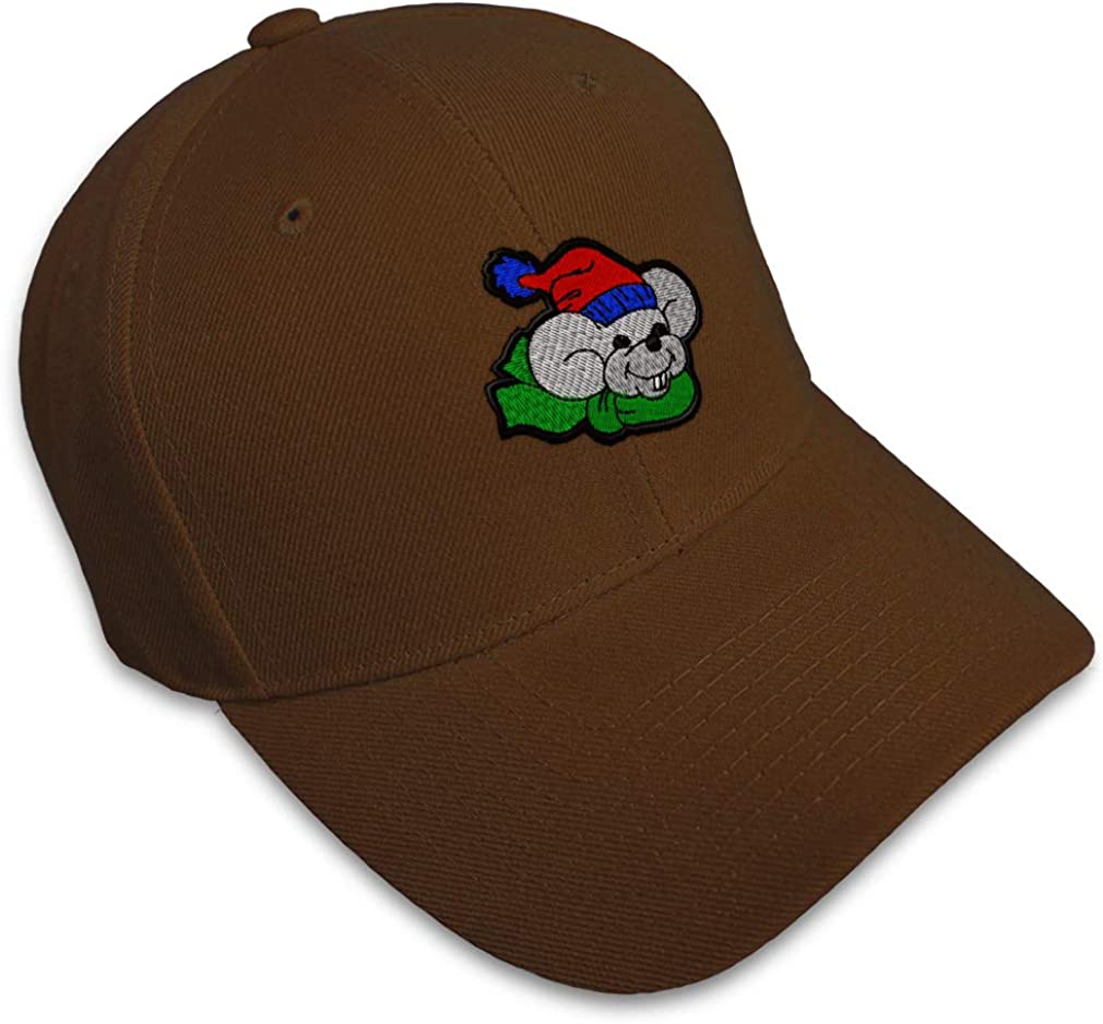 Custom Soft Baseball Cap Christmas Mouse Embroidery Dad Hats for Men /& Women