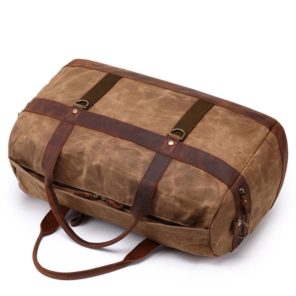 Yangjiaxuan Canvas Mens Shoulder Bag Carry-on Baggage Weekend Bag Large Capacity Package Travel Duffels Color : Brown