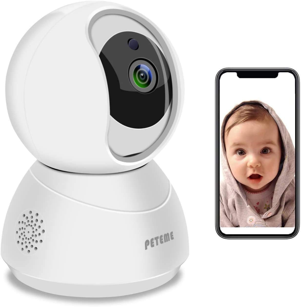 Amazon Com Baby Monitor Peteme 1080p Wifi Baby Monitor With Camera And Audio 2 Way Audio With Night Vision Cloud Service Available Security Camera Compatible With Ios Android Camera Photo