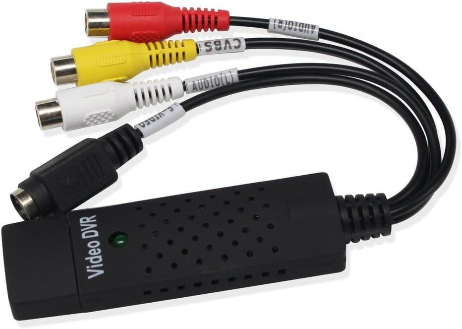 EasyCap USB 2.0 Video Audio Tarjeta de Captura Adaptador VHS VCR TV a DVD Digital Converter: Amazon.es: Electrónica