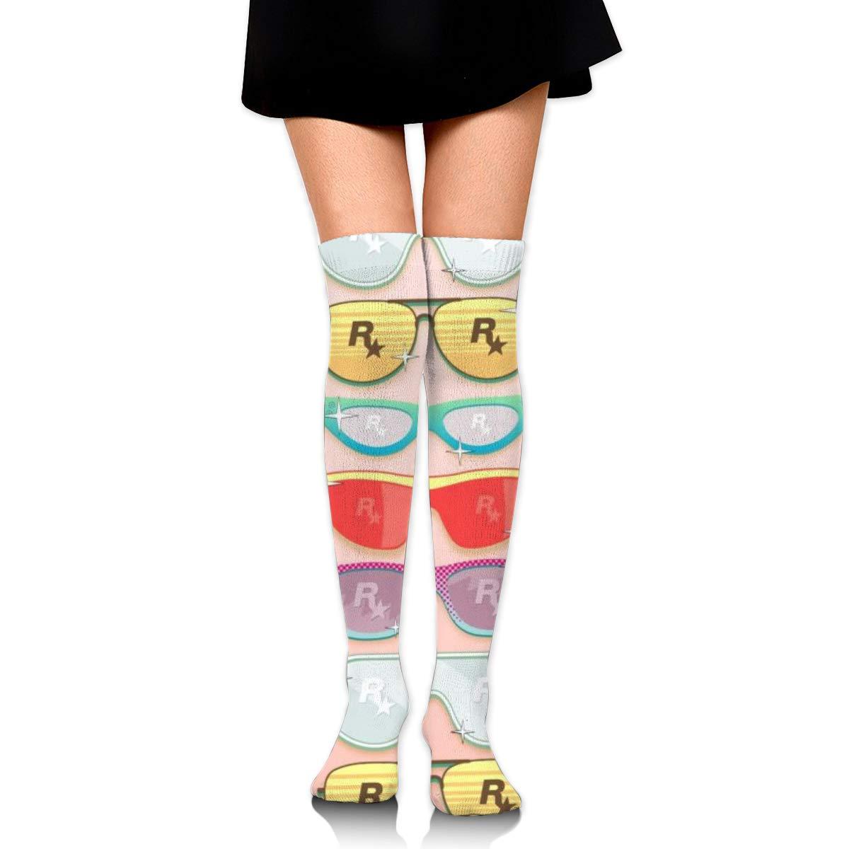 Kjaoi Girl Skirt Socks Uniform Cartoon Glasses Women Tube Socks Compression Socks