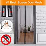 Tools & Hardware : Magnetic Screen Door Mesh Curtain, Fresh Air In - Mosquito Out