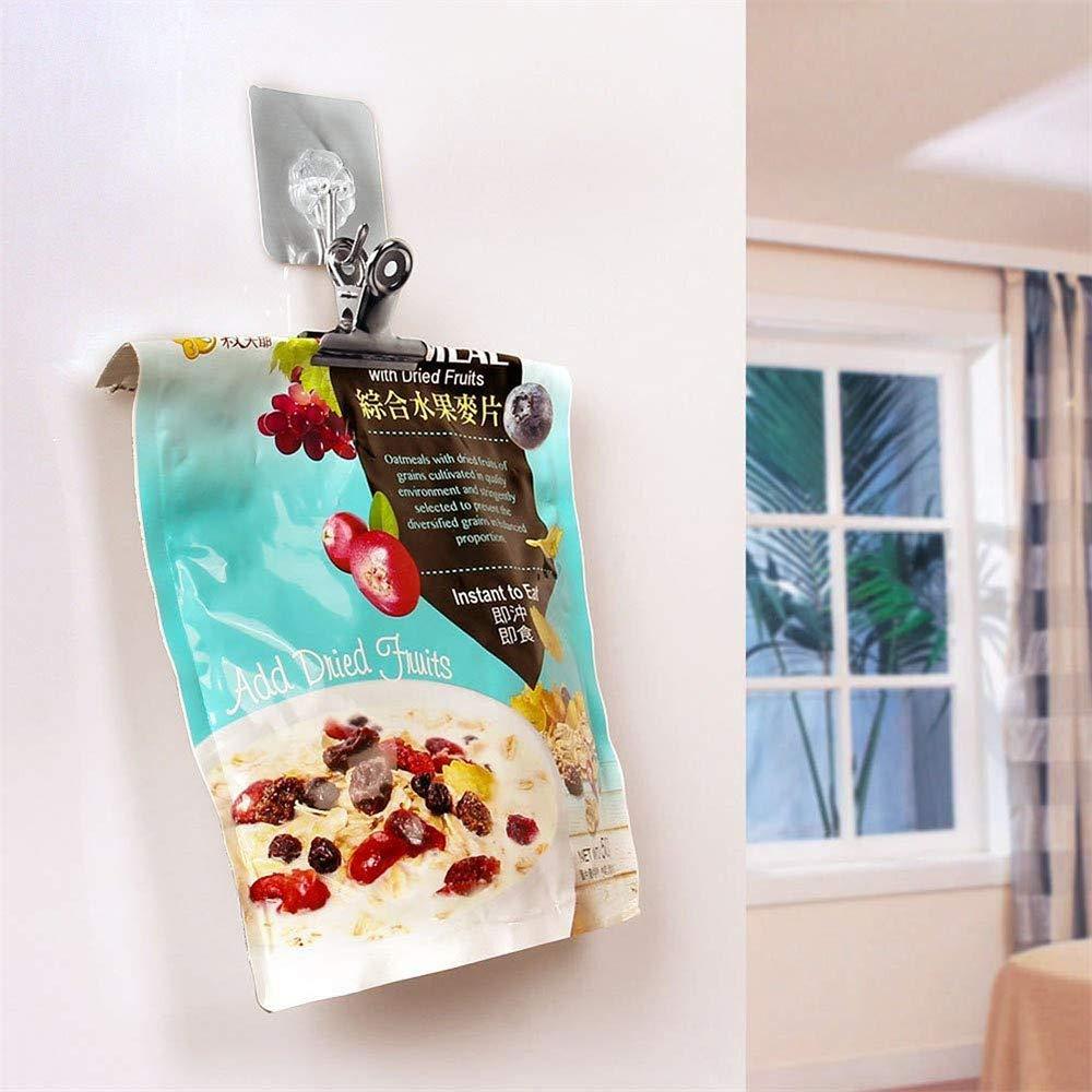 Casa Cucina Cibo Snack Borse Metallo Binder Clip di Carta Morsetti per Immagini Foto Forniture per Ufficio,12 Pezzi JUNSHUO Acciaio Inox Clip per Borsa Chiusura Ermetica