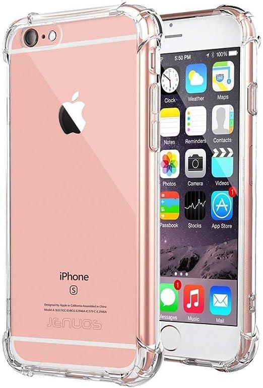 Jenuos Coque iPhone 6 / 6S, Transparent Doux Souple Extrêmement Fin Housse TPU Silicone Etui pour iPhone 6/6S 4.7