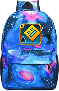 Star School Bag Geometry Transparent Dash Fashion Satchel Galaxy Backpack for Student Kids Boys Girls