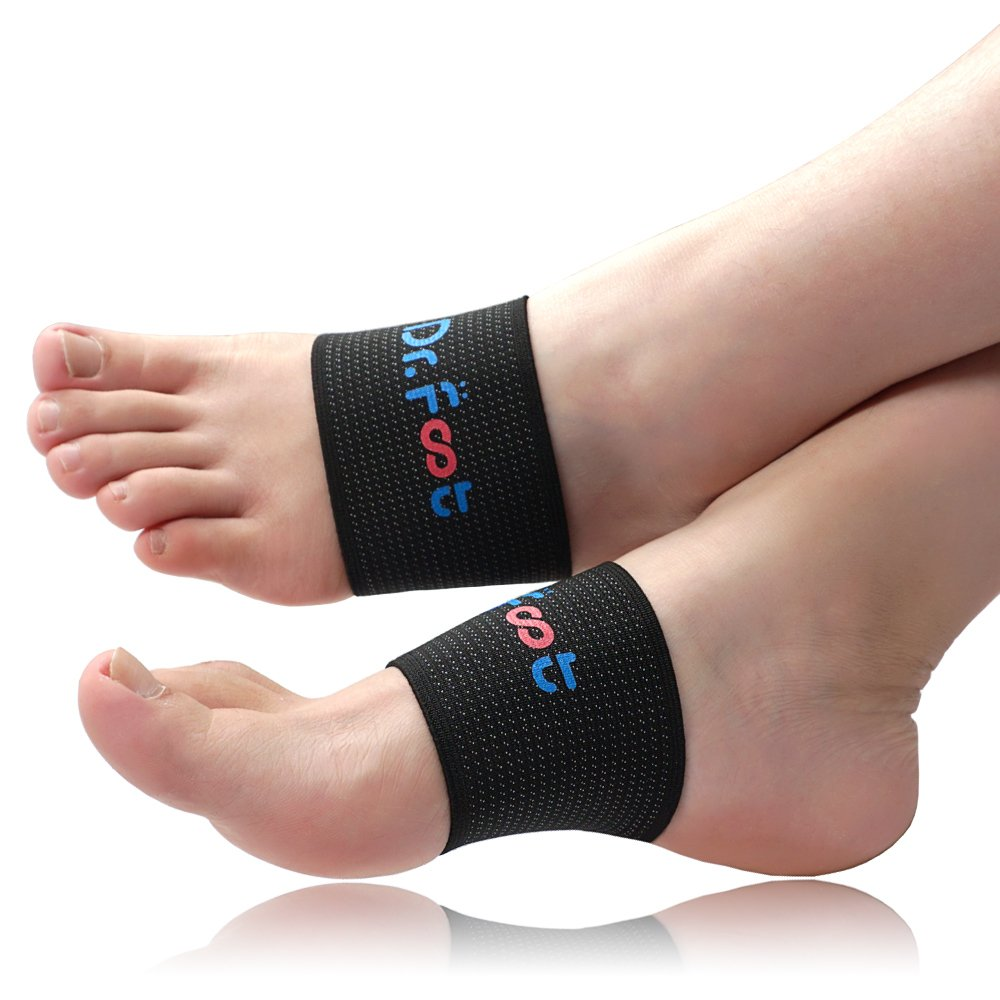 Dr. Foot's Compression Copper Arch Support Brace, 4 Pieces Plantar Fasciitis Socks for Flat Feet, Foot Pain, Arch Pain and Heel Spurs (S - Women's 4.5-9 | Men's 5-8)