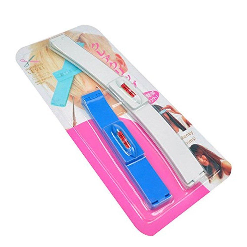 Hair Hairstyling Ruler Clipper Tool DIY Guide Trimmer (Blue) Qiqilei MFSUT311047