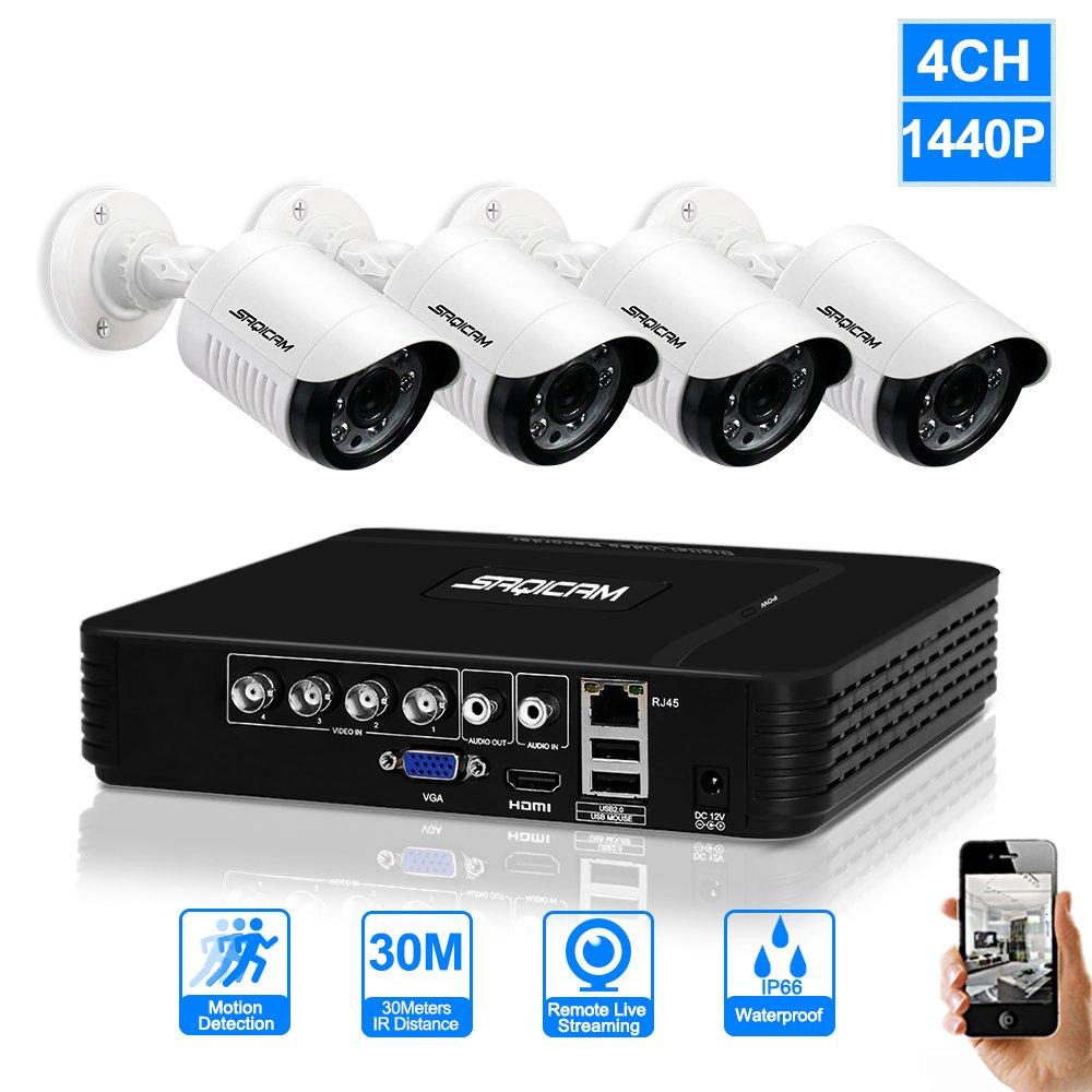 超熱 SAQICAM 4Ch 4Mp HDビデオセキュリティシステムCctv Dvrキット4作品屋外1440P 4.0Mp耐候性監視防犯カメラシステム、Usbバックアップ、サポートアナログ、Ahd 4Ch SAQICAM、Tvi、CviおよびIPカメラ B07CWPW5XH, 防犯専門店マックスガレージ:9cea7a51 --- martinemoeykens-com.access.secure-ssl-servers.info