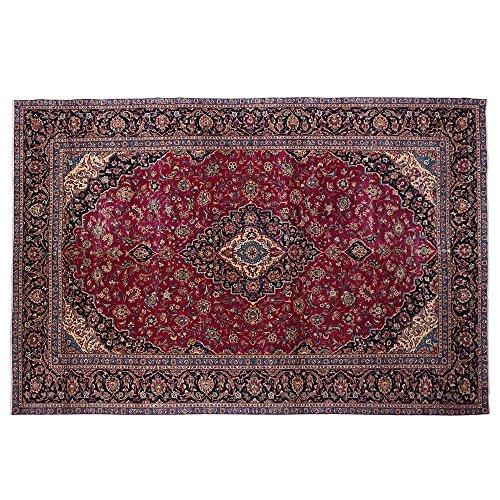 13.8' x 9.1' Wool rug, Best antique rug, Brown vintage carpet,Traditional Oriental Area Rug, Floor Classy Carpet, Classical Fancy Handmade Rug, Red Turkish Rug.Code R0101292