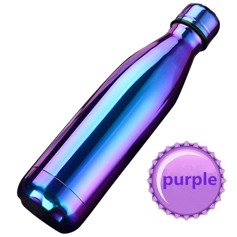 500 ml SEPT MIRACLE Keep Edelstahl Colorful hei/ßes und Kaltes Wasser Flasche Vakuum Isoliert auslaufsicher doppelwandig Sport Tassen Blue Palma Plus