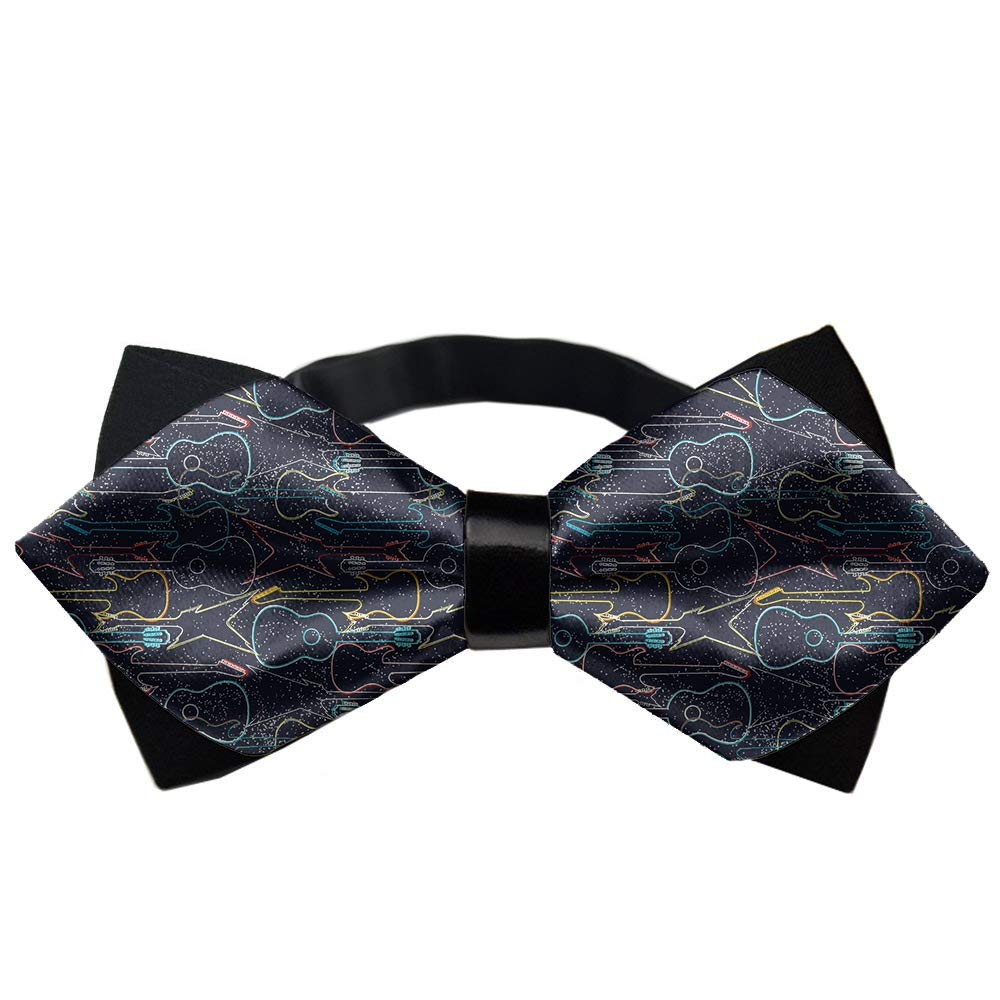 YINLAN Adjustable Length Pre-Tied Bow Tie for Men /& Boys Formal Elegant Guitars Pattern Bowtie Accessories