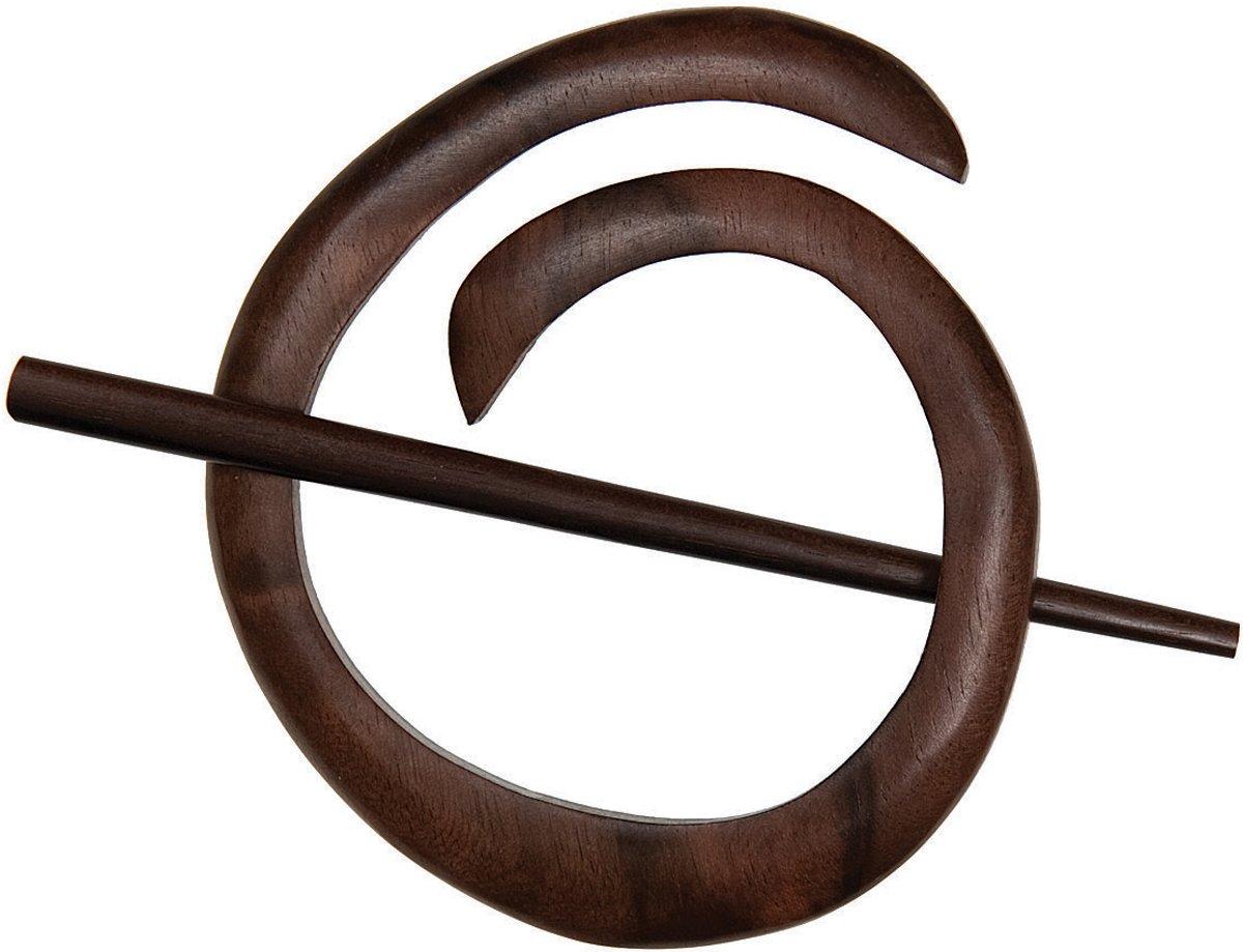 Paradise Exotic Shawl Pin Spiral Shawl Pin, Tiger Ebony