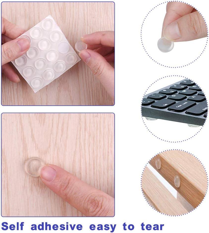 Almohadilla Autoadhesiva Parachoques Gotas Silicona Adhesivas Topes Adhesivos Transparentes B/úfer Muebles de Muebles Pad Para Armarios Lagrimas Silicona 165 Piezas Pies de Goma Transparentes