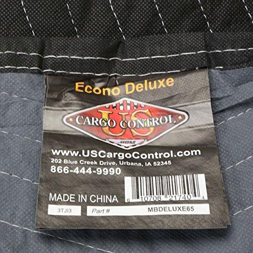 "Moving Blanket (24-Pack) 72"" X 80"" US Cargo Control - Econo Deluxe (130 Lbs/2 Dozen, Black/Gray)"