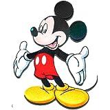Parches - MICKEY MOUSE XL 'MICKY DE PIE' - negro - 20x15cm - by catch-the-patch termoadhesivos bordados aplique para ropa