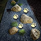 Rebecca online Solar Paw Print Lights (Set of 4), Cool White(3000-4500k) (Warm White)