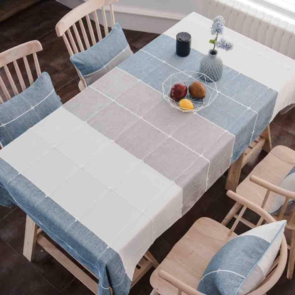 Moderno minimalista de algodón y lino pequeño mantel fresco sala de estar mesa de centro mantel enrejado de tela estera de tabla , 002 , 110170cm