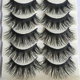 DAEDALUS 5 Pairs Natural Long Fake Eye Lashes Thick False Eyelashes Black Makeup Tool