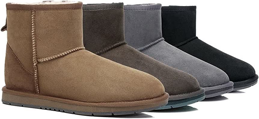 UGG Ankle Boots - Mini Classic Australian Sheepskin, Water Resistant, Non-Slip