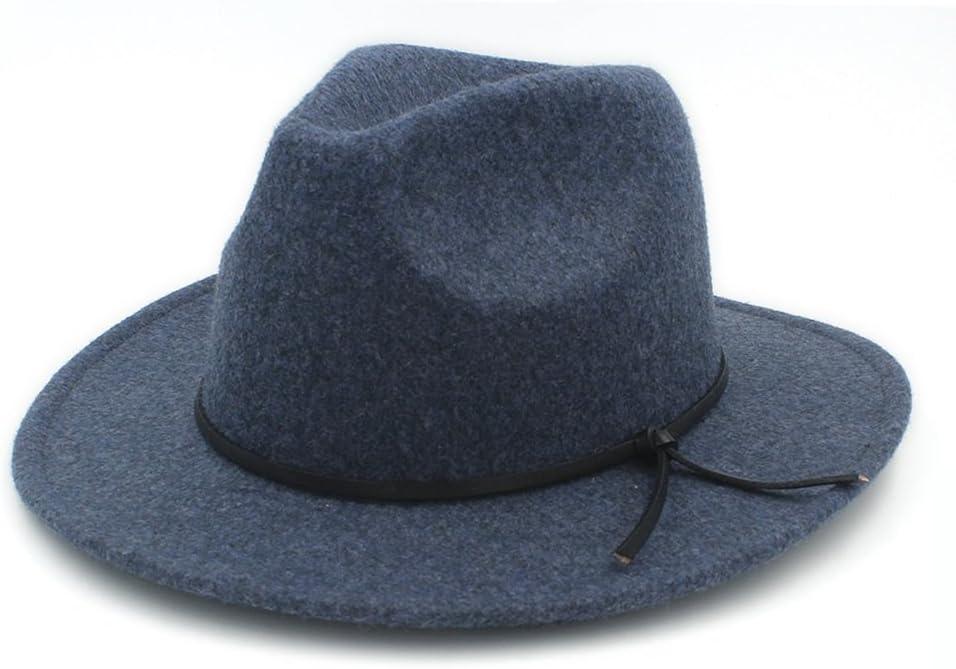 Sunny/&Baby Cappello Fedora Panama Jazz Church da uomo Cappello da donna in feltro di lana Trilby a tesa larga Cappellini per signore//signori Moda Color : 4, Size : 57-59cm