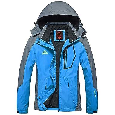 Malloom Chaqueta Abrigo de Invierno Impermeable a la Nieve, Abrigo con Forro Polar faldón antinieve Integrado Chaquetas para Mujer Chaqueta de Gran tamaño: ...