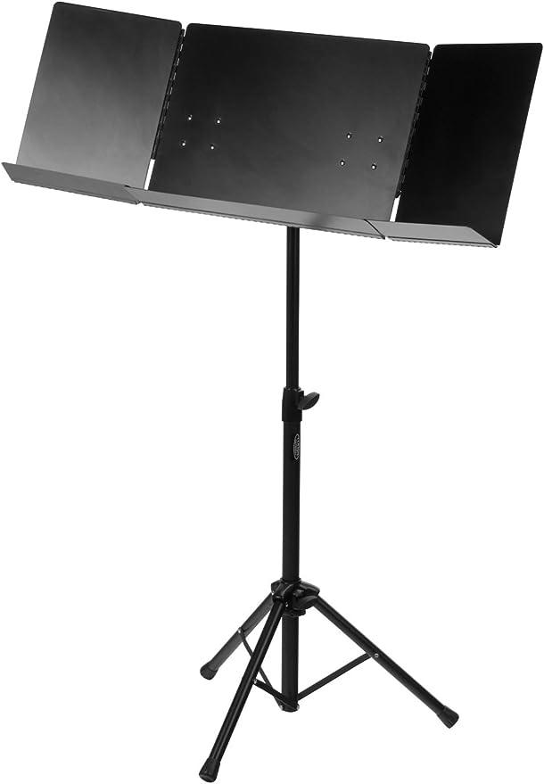 Classic Cantábile Atril orquesta plegable robusto negro: Amazon.es: Instrumentos musicales