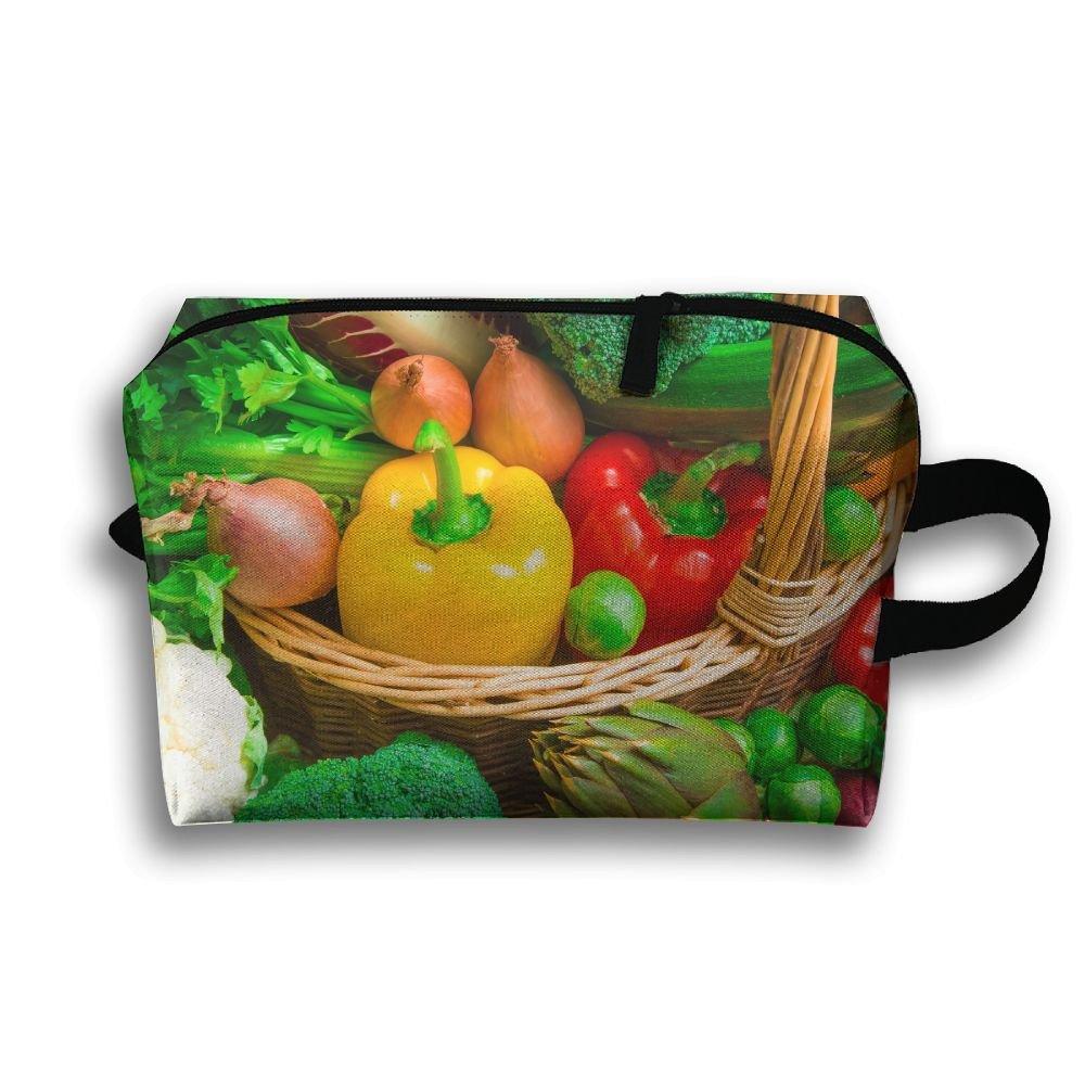 緑野菜Small Travel Toiletry Bagスーパーライト一泊旅行トイレタリーオーガナイザーfor B079FHS6ZF