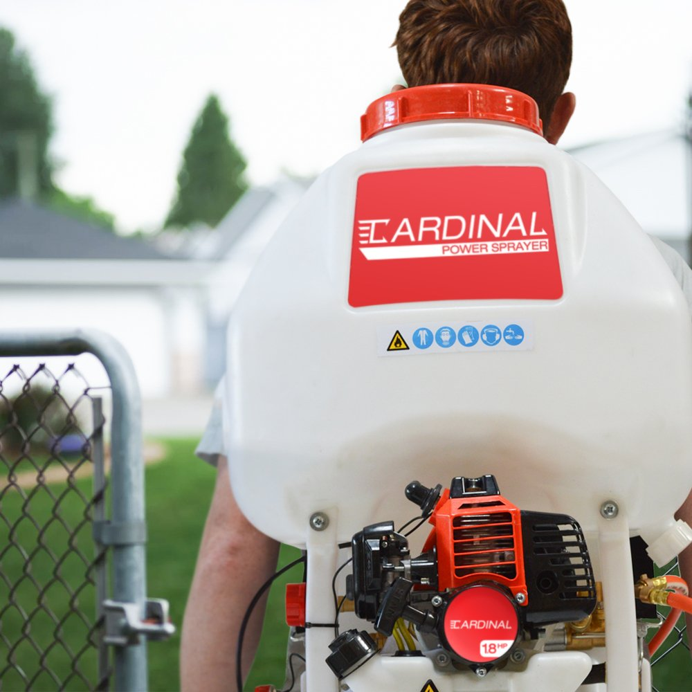 Cardinal CPS435 Gas Powered Backpack Sprayer with 6.5 Gallon Tank for Pest Control (Includes Wands) by Cardinal (Image #3)