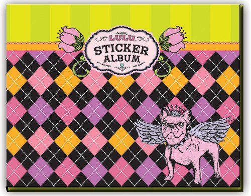 Sugar Lulu Sticker Albums Argyle, Black