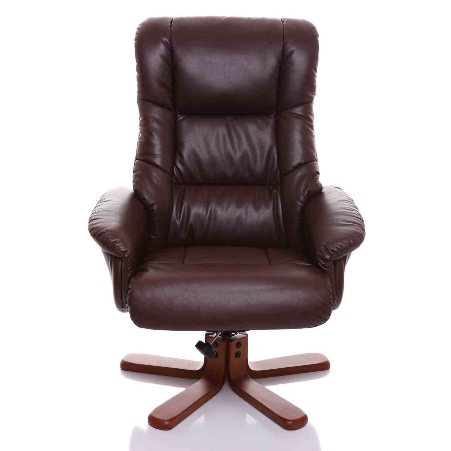 The Shanghai Bonded Leather Recliner Swivel Chair & Matching