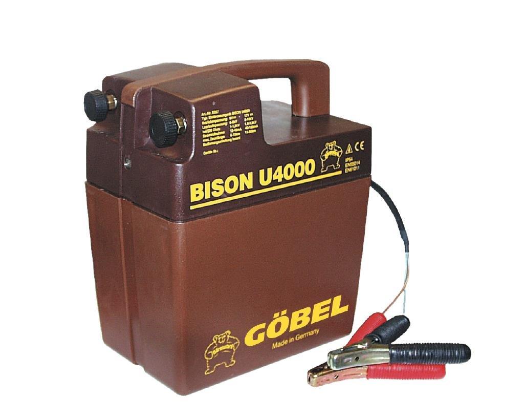 Göbel Weidezaungerät Batteriegerät Bison U 4000 bis 18km Zaunlänge 1,30J 9V 12V ohne Batterie