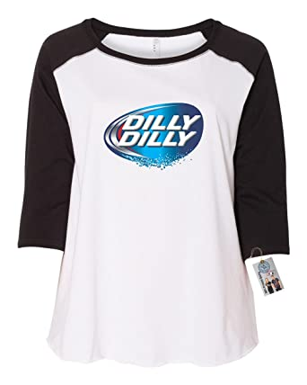 Custom Apparel R Us Dilly Dilly Beer Shirt Plus Size Womens Raglan Sleeve T  Shirt