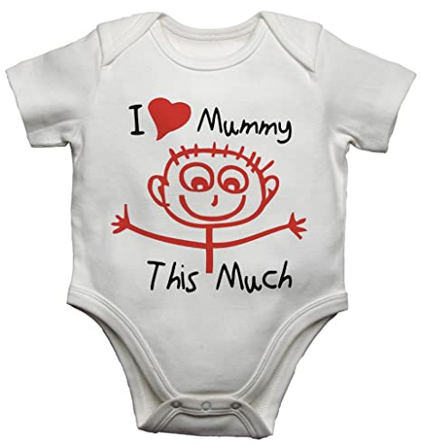 Me and My Mummy Love Daddy Funny Baby Body Suit Vest Babygrow Boys and Girls