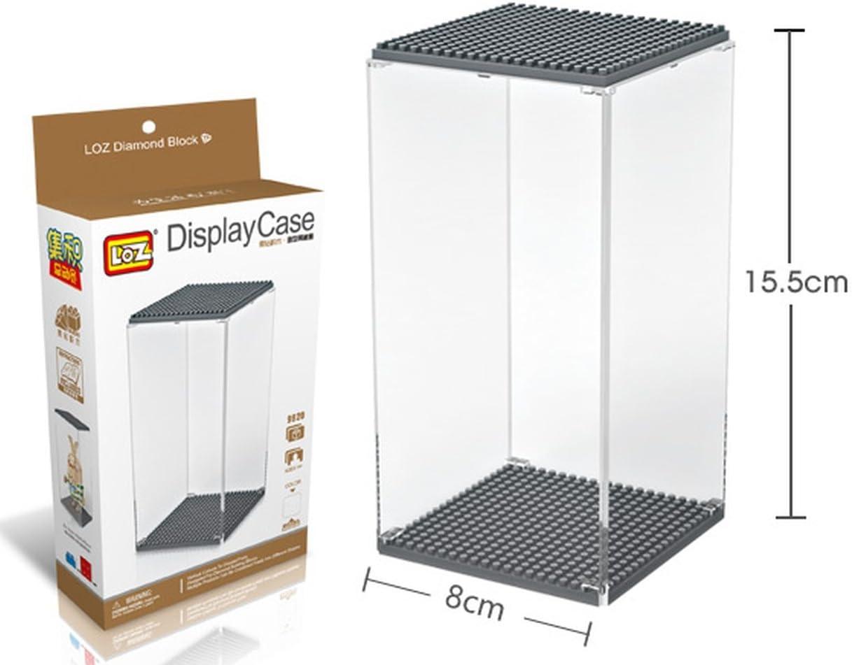 Caja de metacrilato para figuras de minibloques - Display box. 15,5 cm de altura. Negro: Amazon.es: Juguetes y juegos