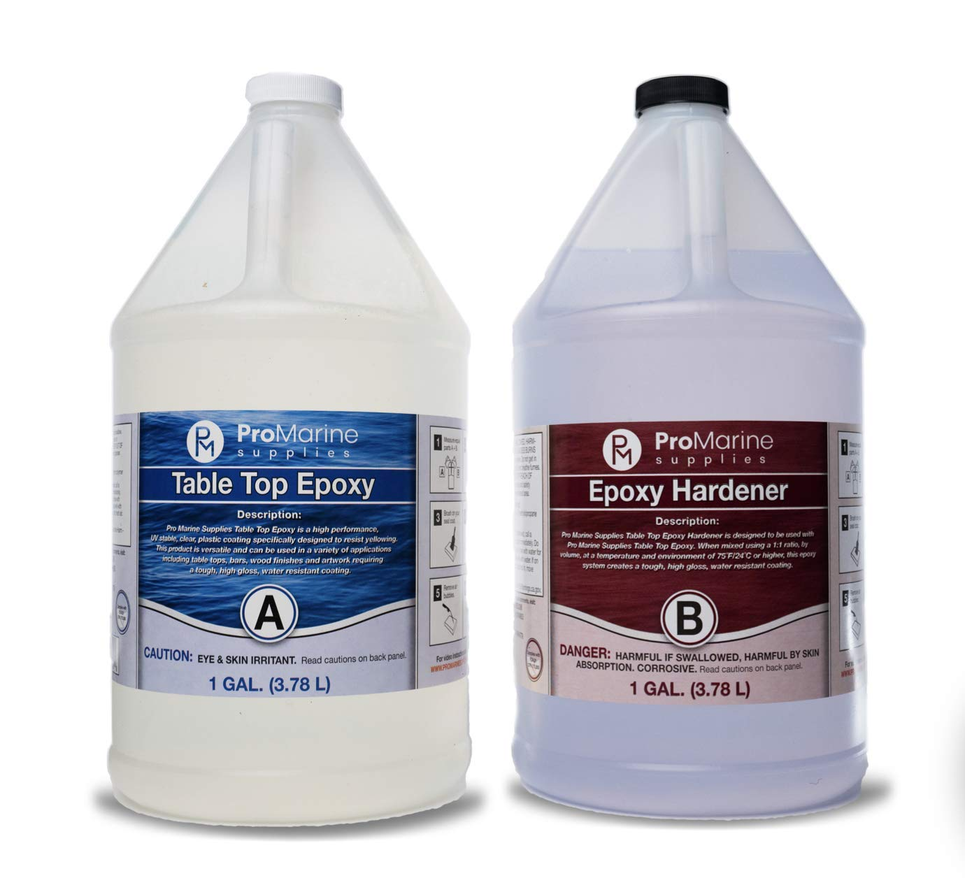 Clear Table Top Epoxy Resin Coating for Wood Tabletop - 2 Gallon Kit